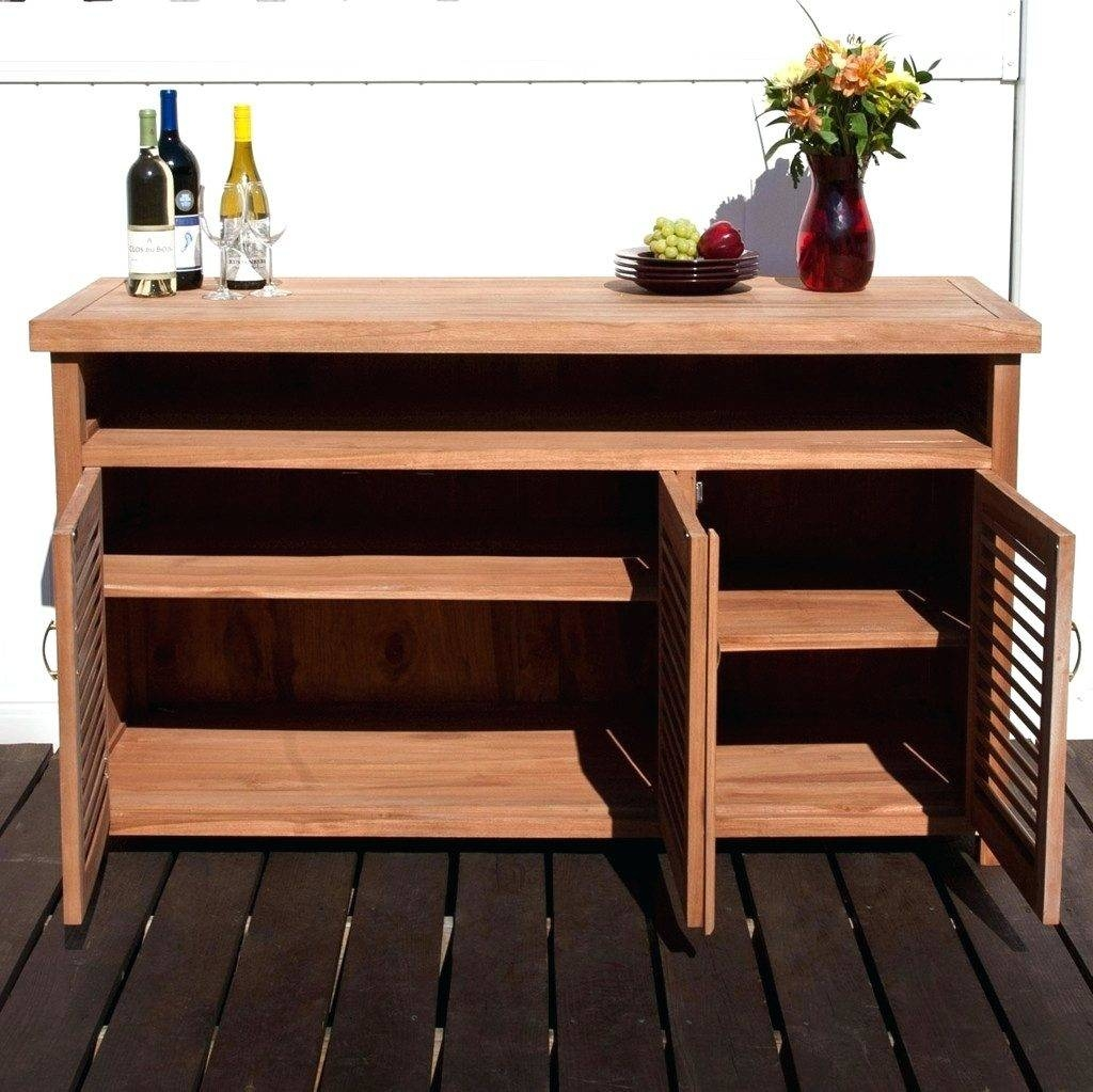 Patio Ideas ~ Outdoor Cabinets For Patio Sideboards Outdoor Buffet Within Most Current Outdoor Sideboards (#5 of 15)