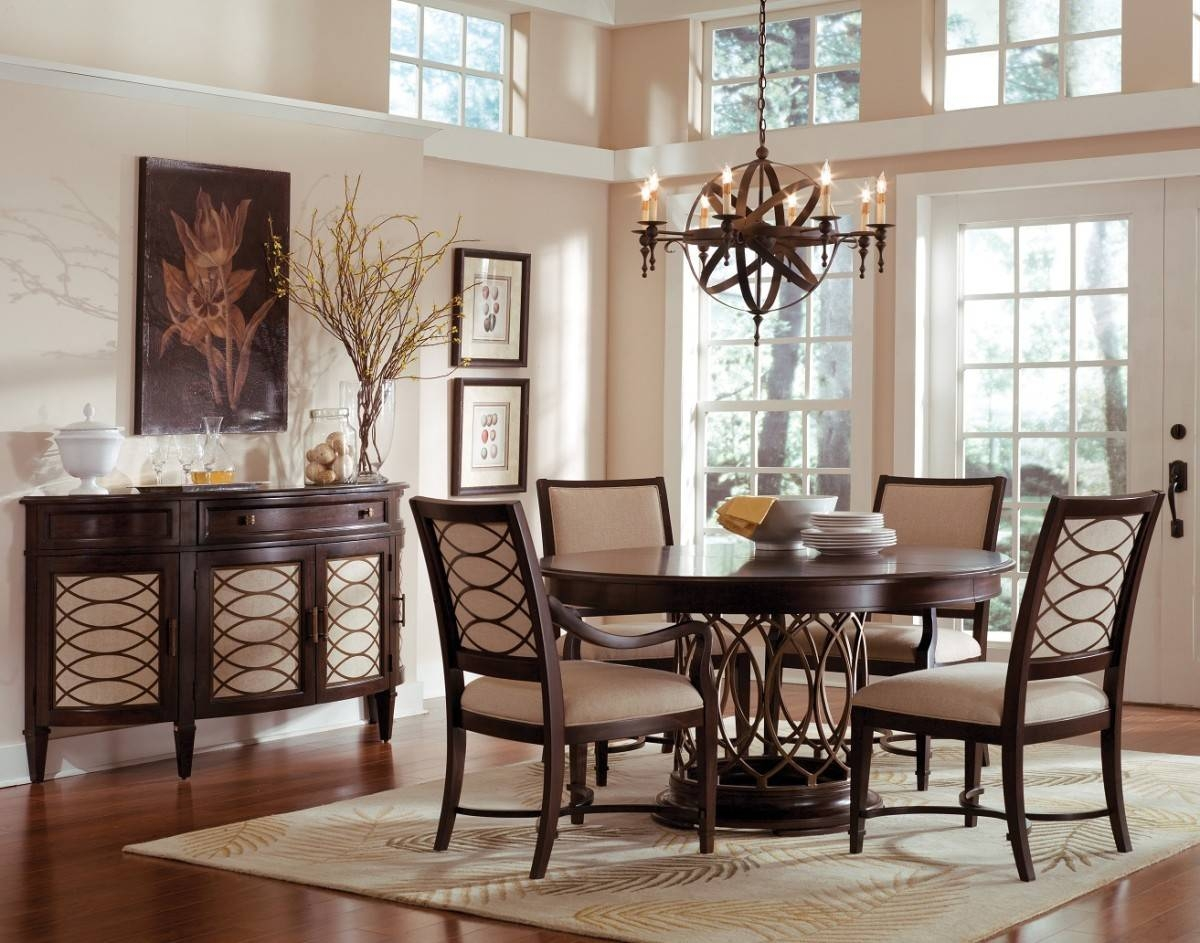 Peachy Dining Room Set Sideboard | Home Inspired 2018 Intended For Most Up To Date Dining Room Sets With Sideboards (#12 of 15)