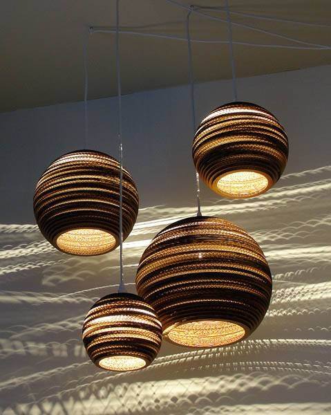 Pendant Light Fixtures Made Of Corrugated Paper, Contemporary With Regard To Newest Recycled Pendant Lights (#10 of 15)
