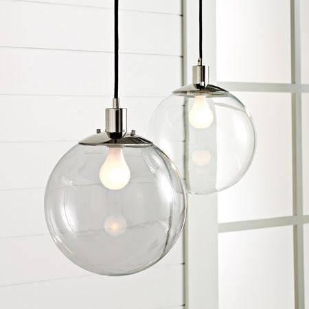 Popular Photo of Clear Glass Globe Pendant Light Fixtures