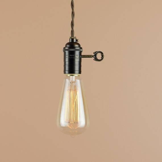 Plug In Pendant Light With Edison Light Bulb 10 Foot Cord Regarding Recent Edison Bulb Pendant Lights (View 4 of 15)