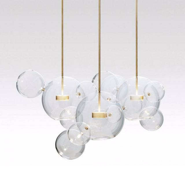 Post Modern Bolle Lamp Led Pendant Light Clear Glass Bubble Ball Inside Most Current Glass Bubble Pendant Lights (#13 of 15)