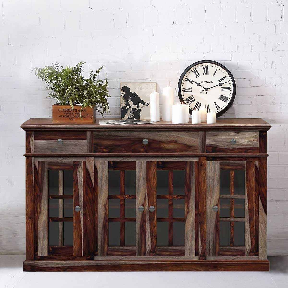 Inspiration about Ranch Rustic Solid Wood Contemporary Sideboard Regarding Most Popular Rustic Sideboard Furniture (#14 of 15)