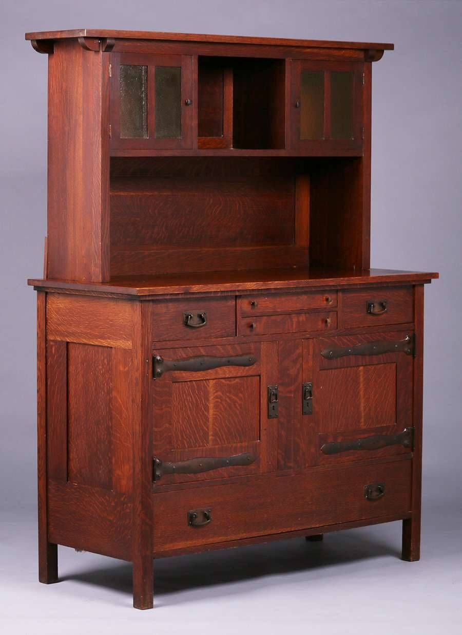 Inspiration about Rare L&jg Stickley Sideboard Hutch C1905   California Historical Throughout Most Recently Released Stickley Sideboards (#12 of 15)