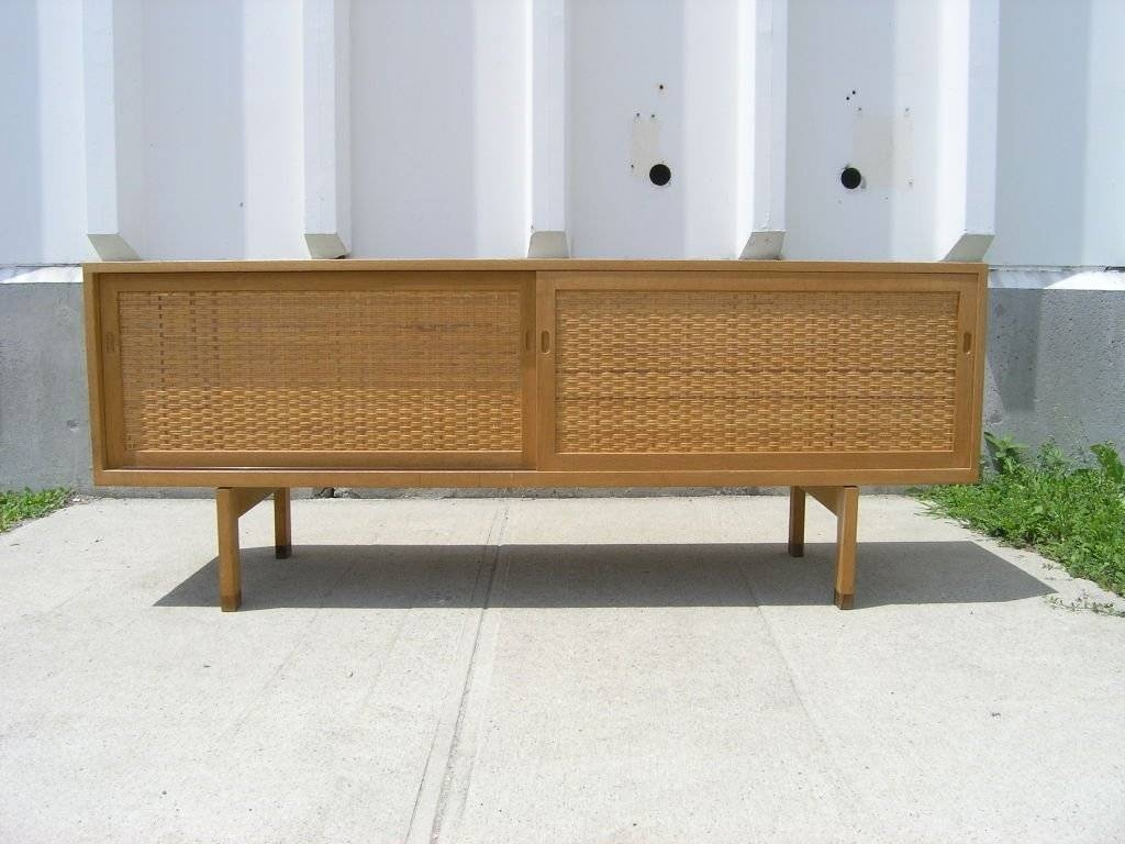 Inspiration about Rare Oak And Rattan Sideboardhans Wegner At 1Stdibs For Latest Hans Wegner Sideboards (#11 of 15)