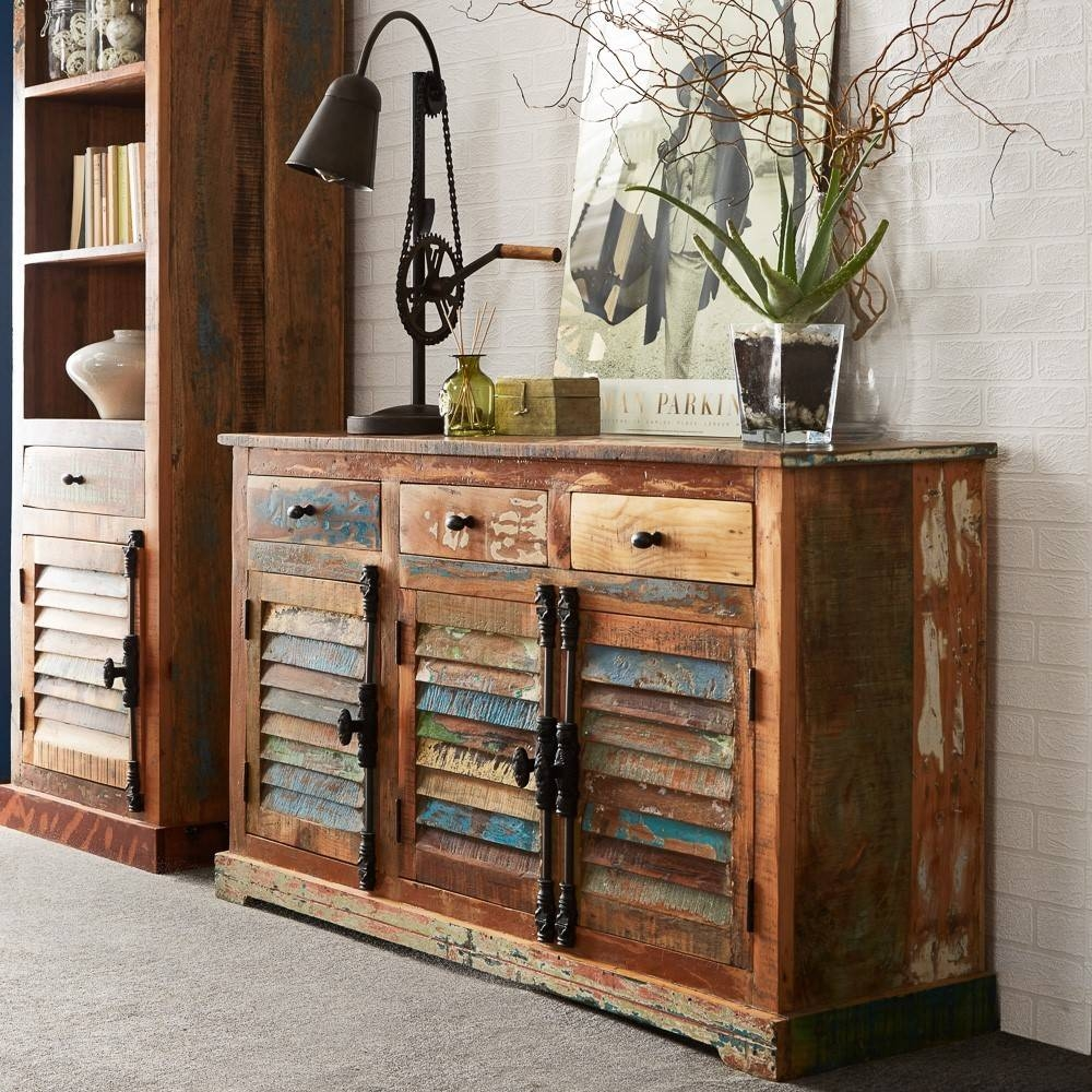 Inspiration about Reclaimed Indian Large Sideboard | Casa Bella Furniture Uk With Regard To Most Up To Date Indian Sideboard Furniture (#1 of 15)