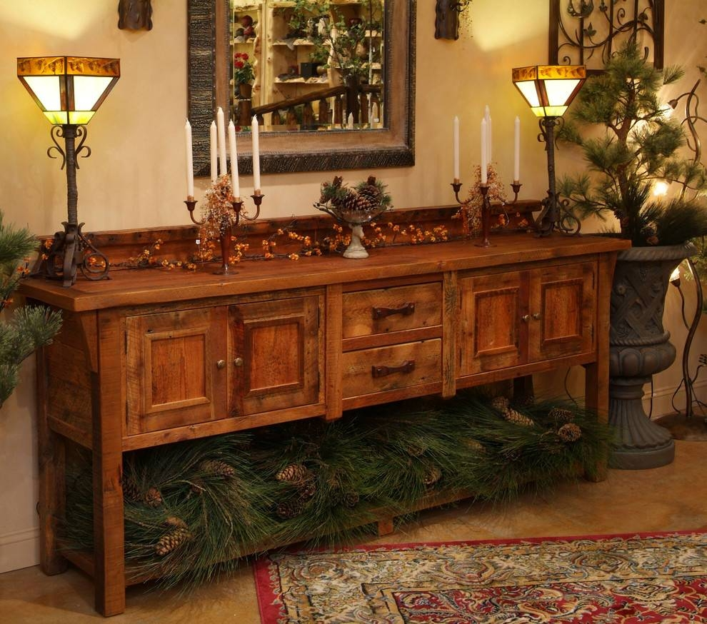 Inspiration about Reclaimed Wood Sideboard Dining Room Eclectic With Antique Wood For Most Recent Eclectic Sideboards (#6 of 15)