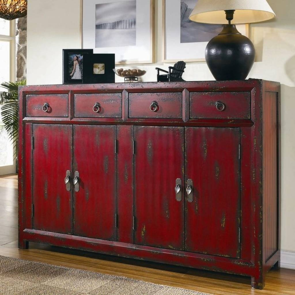 Red Buffet Cabinet – Home Design Ideas And Pictures For Newest Red Buffet Sideboards (#6 of 15)