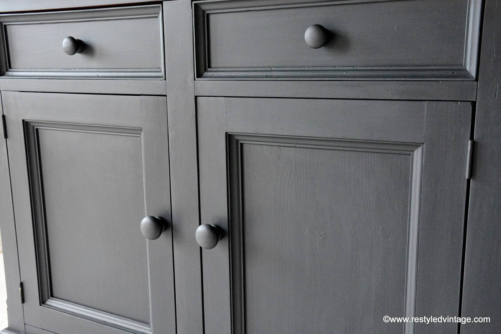 Inspiration about Restyled Vintage: How To Get A Great Waxed Finish On Graphite With Regard To 2018 Annie Sloan Painted Sideboards (#6 of 15)