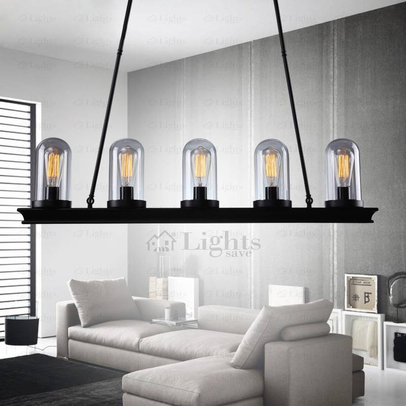 Retro Rectangle Ceiling Plate Pendant Lights Industrial Style In Most Recently Released Pendant Lights For Ceiling Plate (#14 of 15)