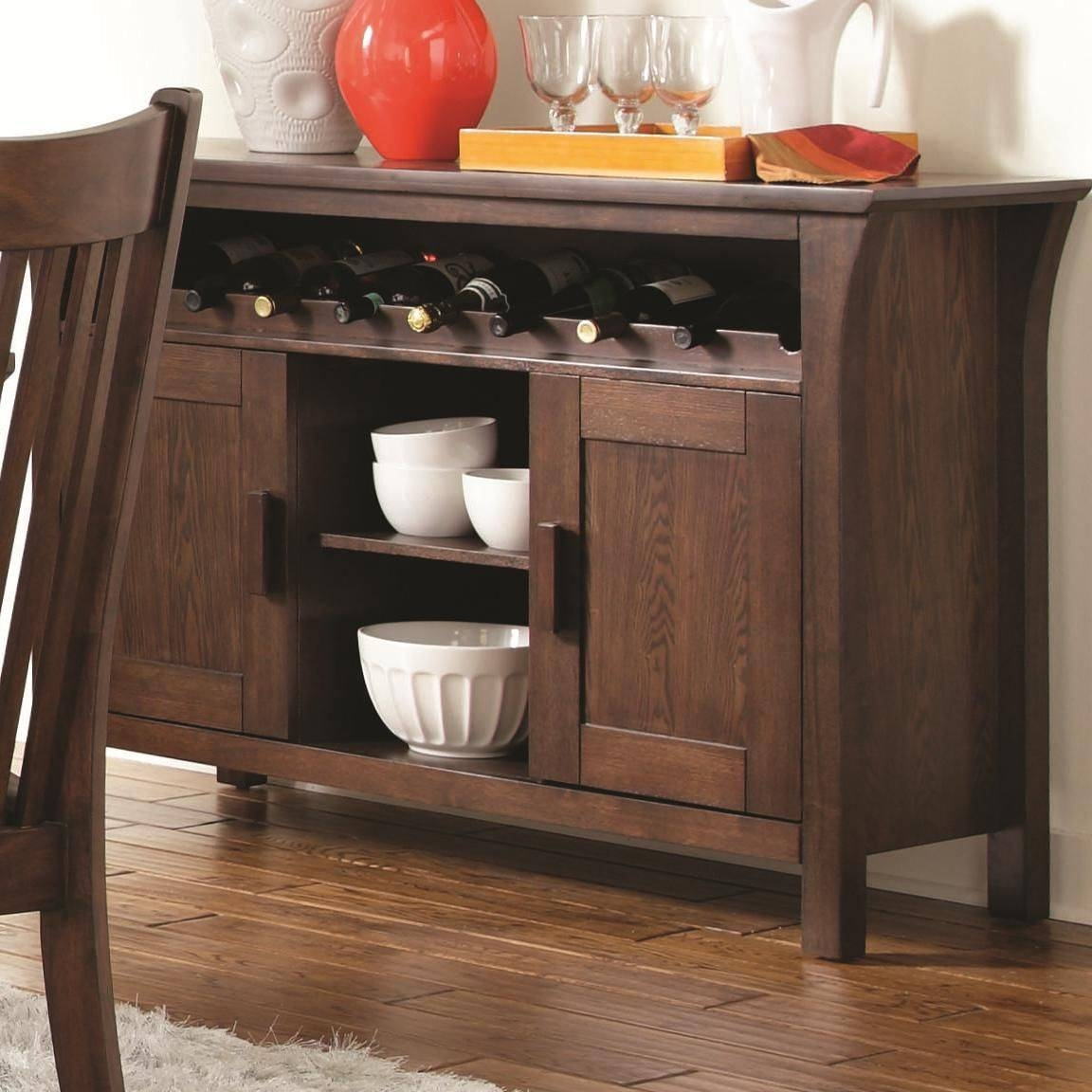Inspiration about Rivera Dark Merlot Wood Buffet Table – Steal A Sofa Furniture In Most Popular Dark Wood Sideboards (#14 of 15)