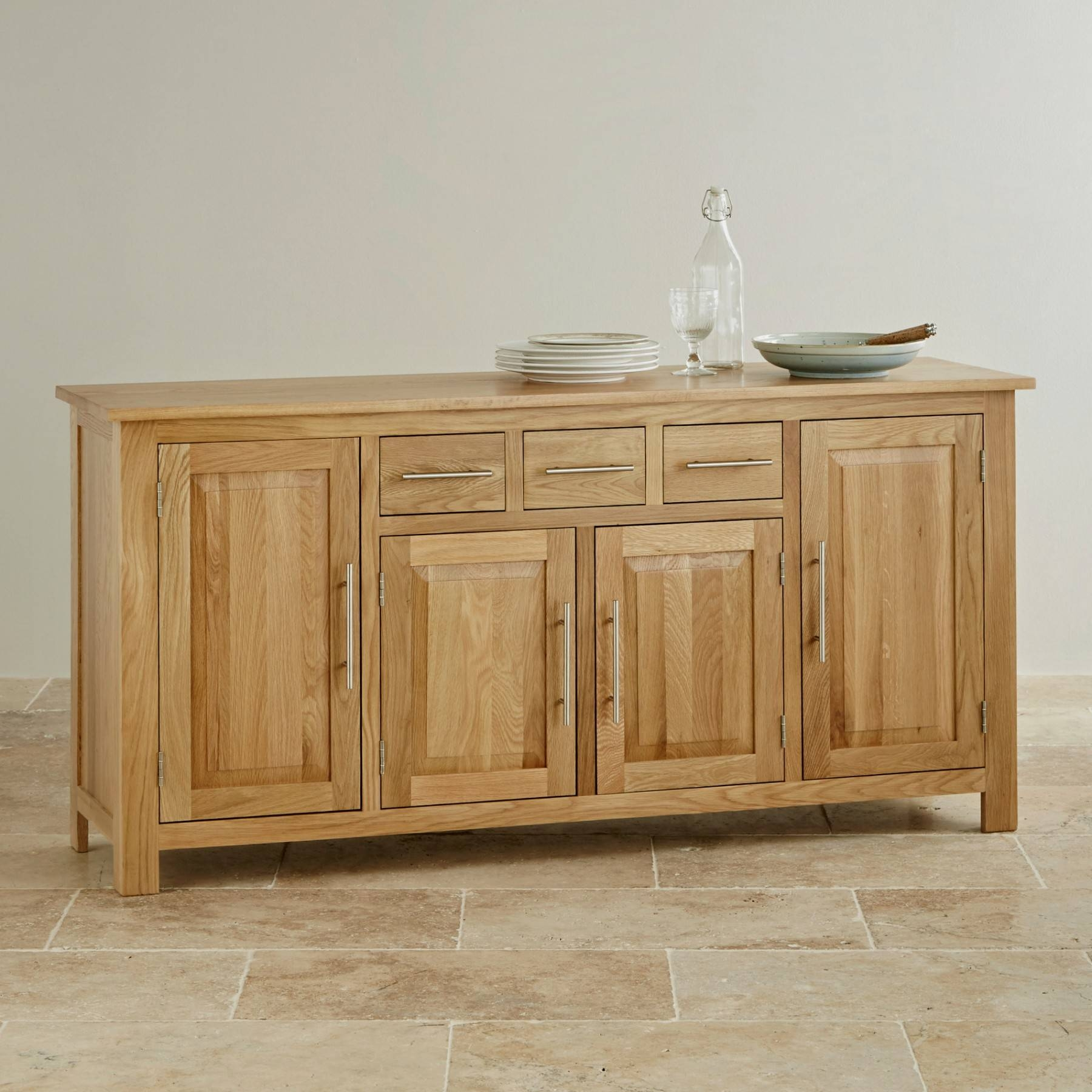 Inspiration about Rivermead Natural Solid Oak Large Sideboard Oak Furniture Land With Most Popular Oak Furniture Land Sideboards (#10 of 15)