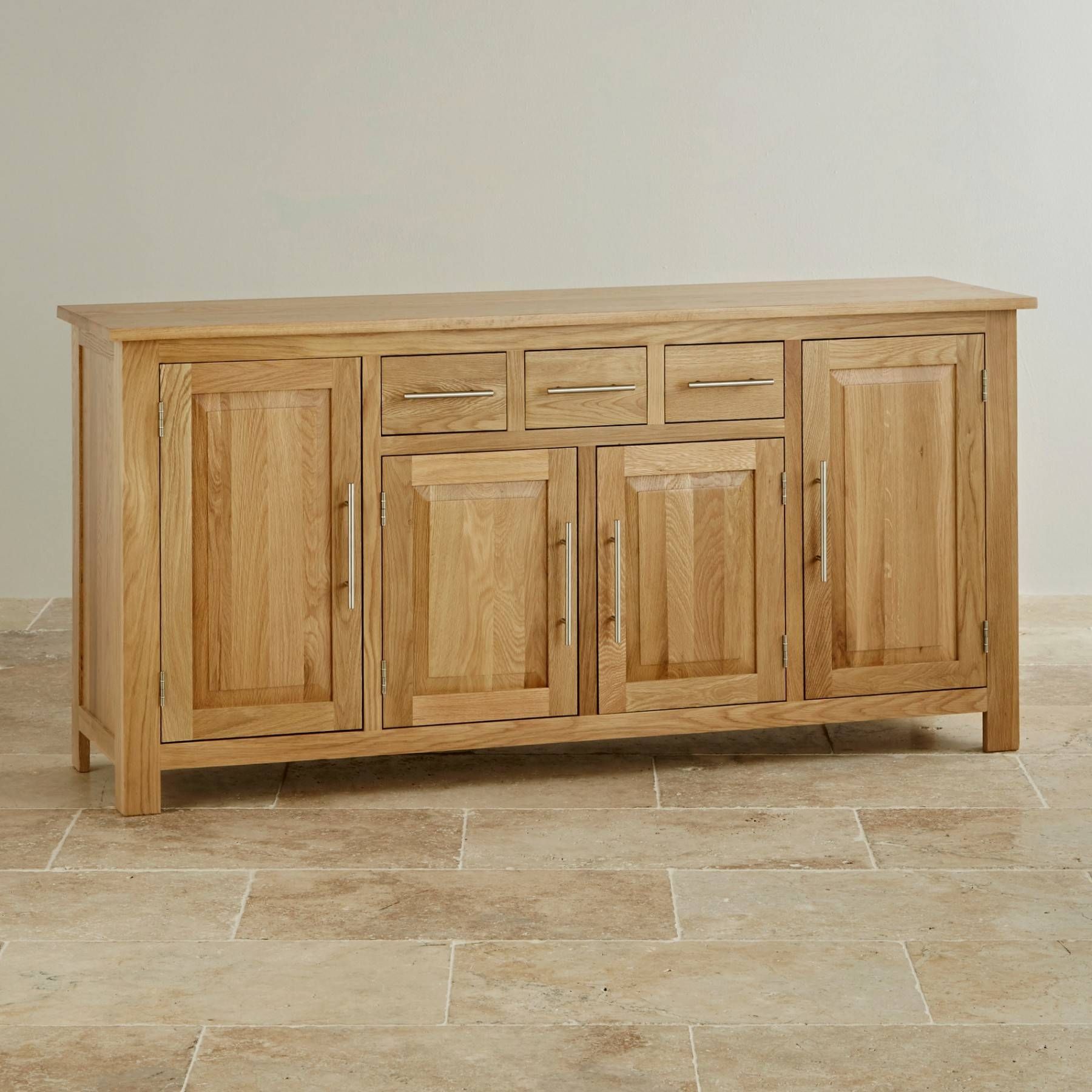 Inspiration about Rivermead Natural Solid Oak Large Sideboard Oak Furniture Land With Regard To Best And Newest Chunky Oak Sideboards (#5 of 15)