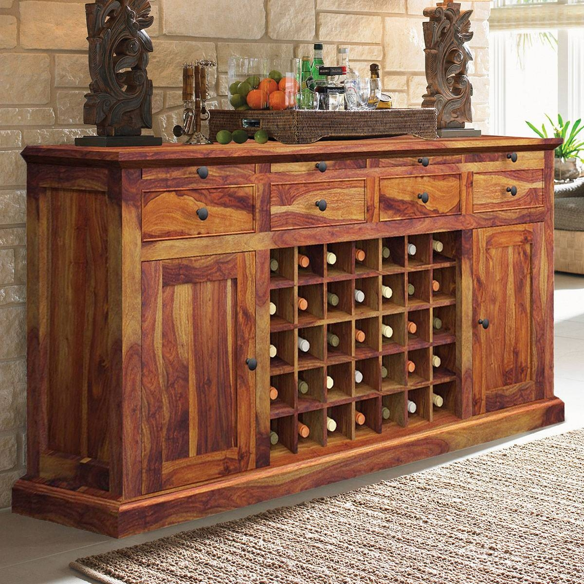 Inspiration about Rustic Buffets Sideboards Within Latest Sideboard Bar Cabinet (#10 of 15)