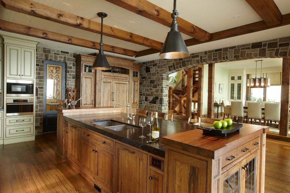 Rustic Cottage Kitchen Ideas Metal — Joanne Russo Homesjoanne Within Most Recently Released Rustic Pendant Lighting For Kitchen (View 8 of 15)