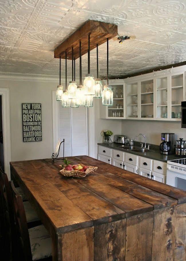 Rustic Pendant Lighting Kitchen Ideas   Baytownkitchen In Most Current Rustic Pendant Lighting For Kitchen (View 14 of 15)