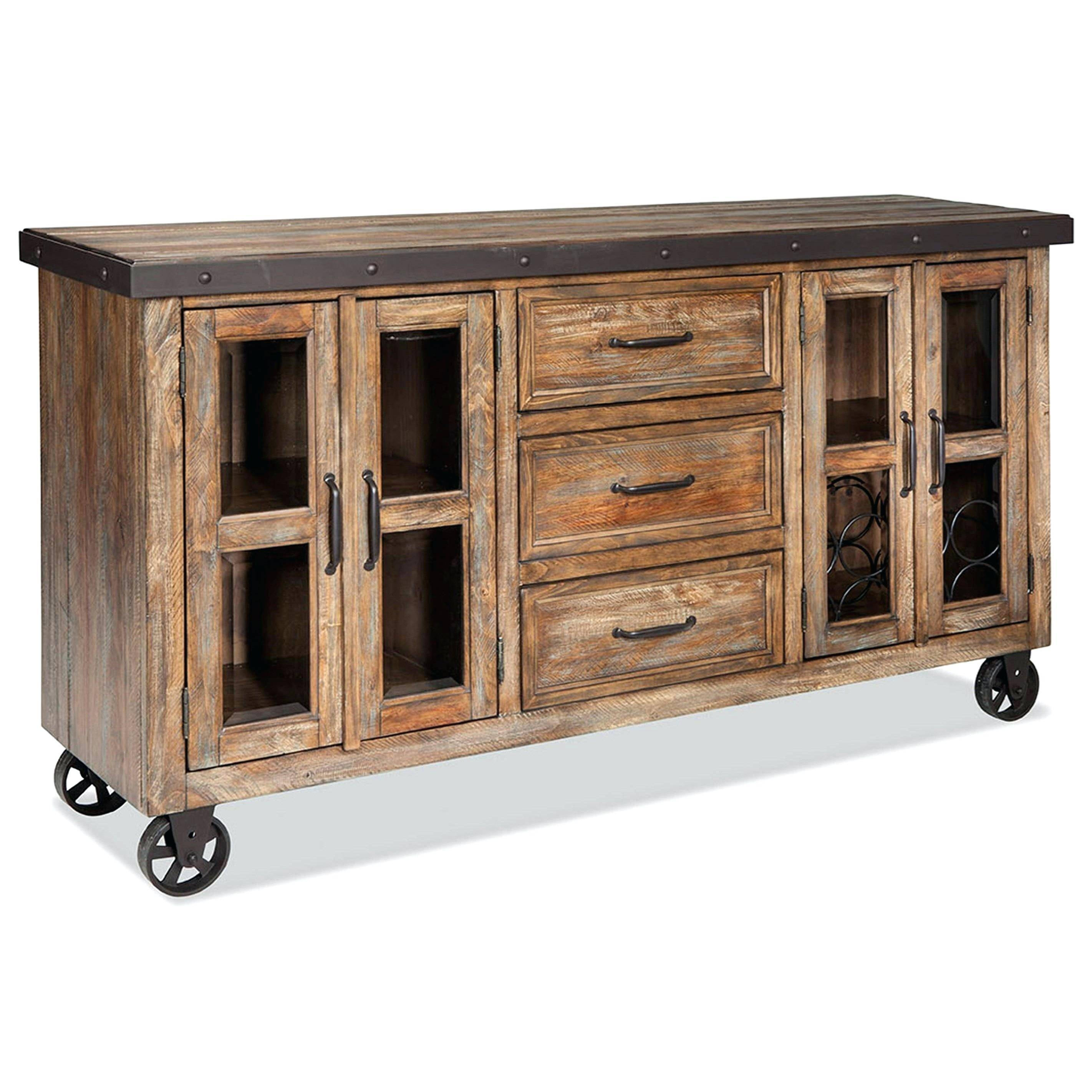 Rustic Sideboards Rustic Sideboard With Roll Up Media Drawer For Latest Rustic Buffet Sideboards (#9 of 15)