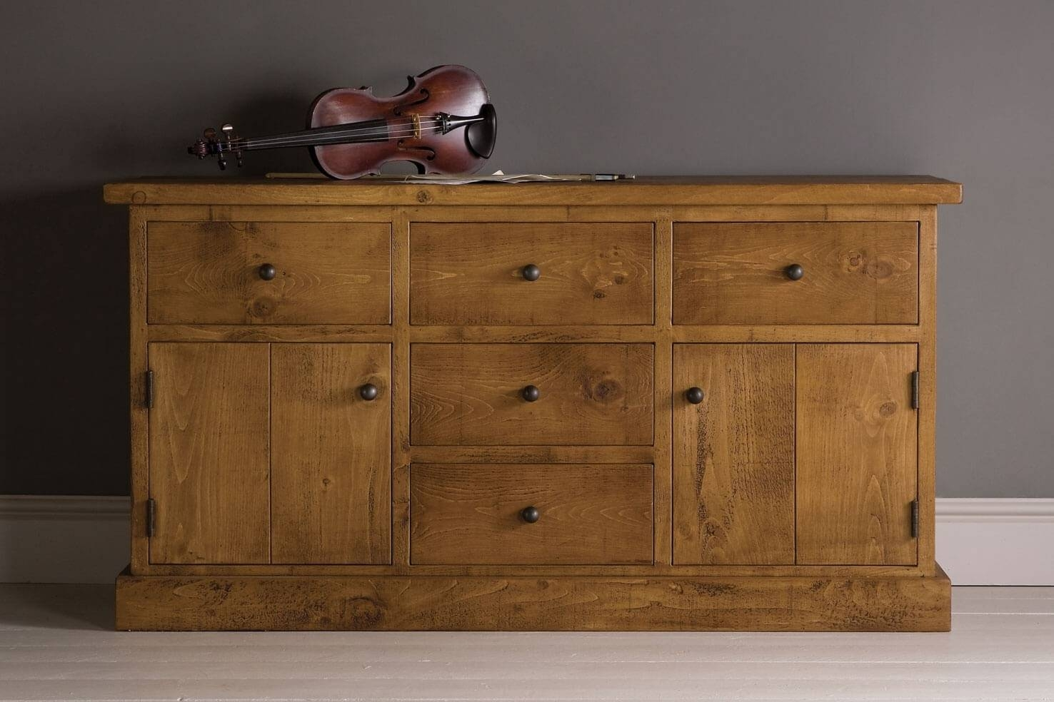 Inspiration about Rustic Wooden Sideboards | Oak & Pine | Indigo Furniture Throughout Newest Pine Sideboards (#8 of 15)