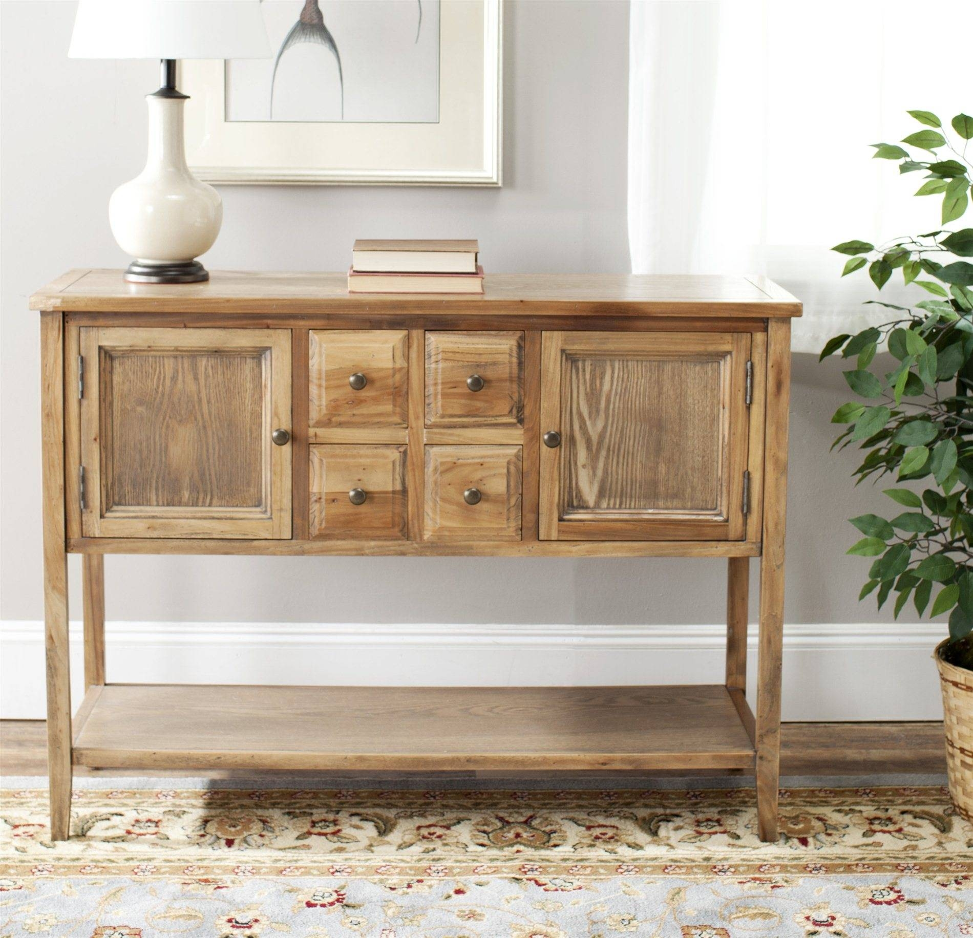 Safavieh Amh6517A Charlotte Sideboard Sfv Amh6517A Intended For Current Safavieh Sideboards (#8 of 15)