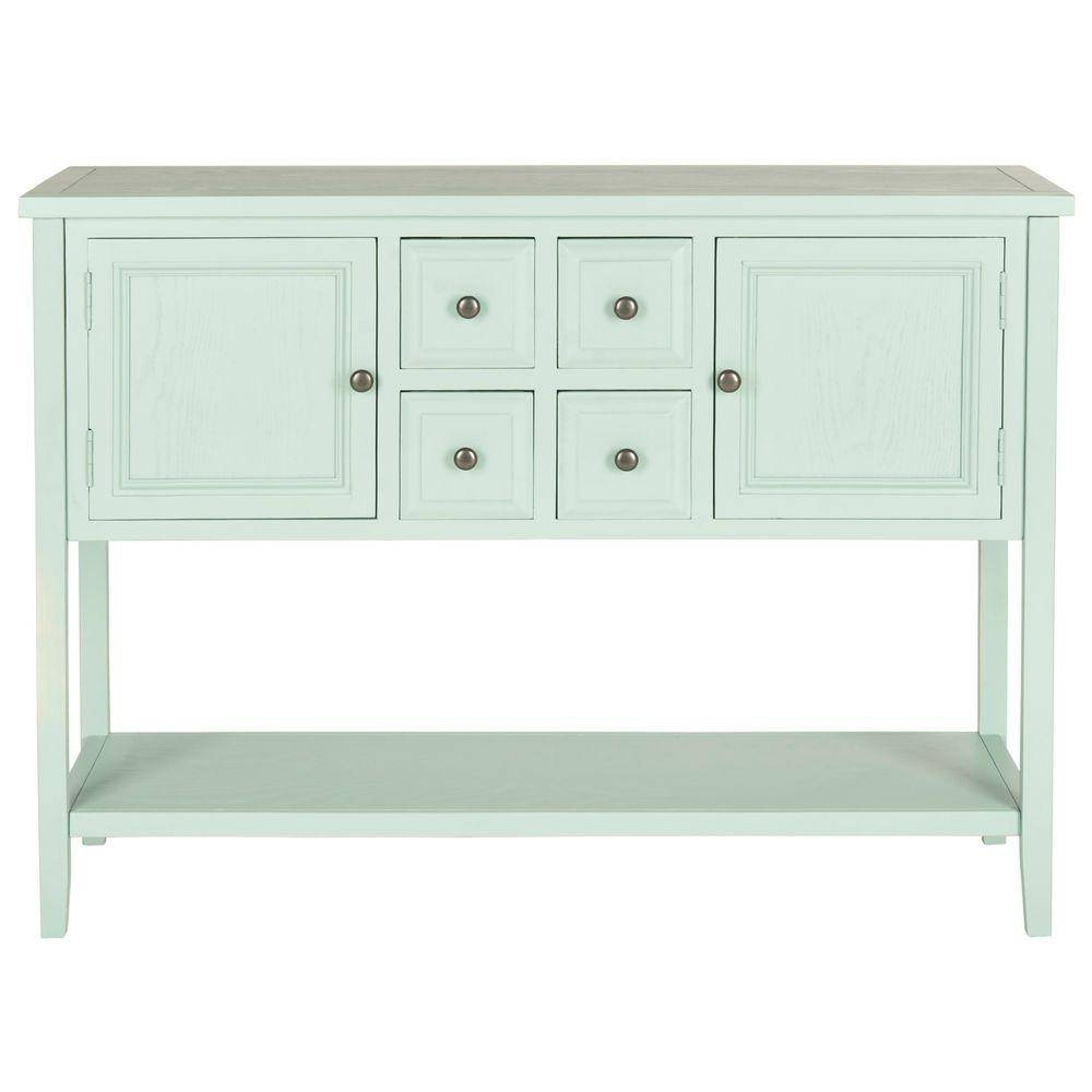 Safavieh Charlotte Aqua Smoke Buffet With Storage Amh6517H – The Inside Best And Newest Safavieh Sideboards (#10 of 15)