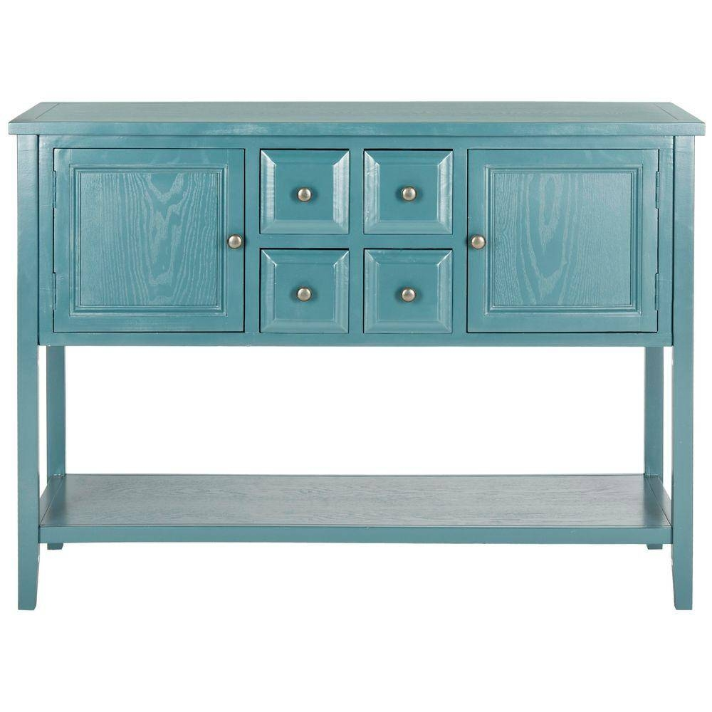 Safavieh Charlotte Slate Teal Buffet With Storage Amh6517G – The For Best And Newest Blue Sideboards (#9 of 15)