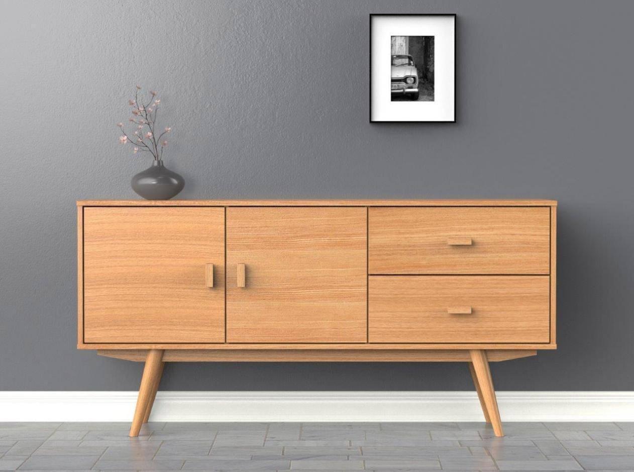 Scandi Sideboard – Large – Buffet – Ash – Scandinavian Style Intended For Most Popular Scandinavian Sideboards (#6 of 15)