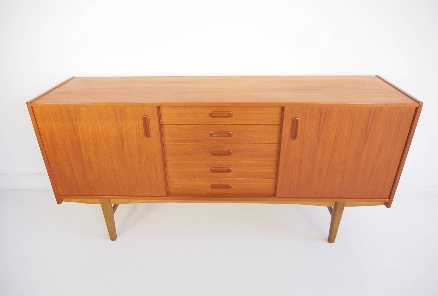Scandinavian Modern Teak Sideboard With Shelves And Drawers, 1960S With Regard To Most Recently Released Scandinavian Sideboards (#8 of 15)