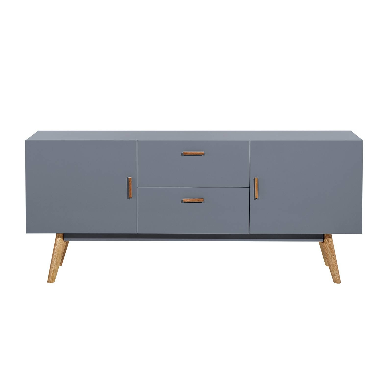 Scandinavian Retro Style White Sideboard Abreo Home Furniture Pertaining To Best And Newest Scandinavian Sideboards (#11 of 15)