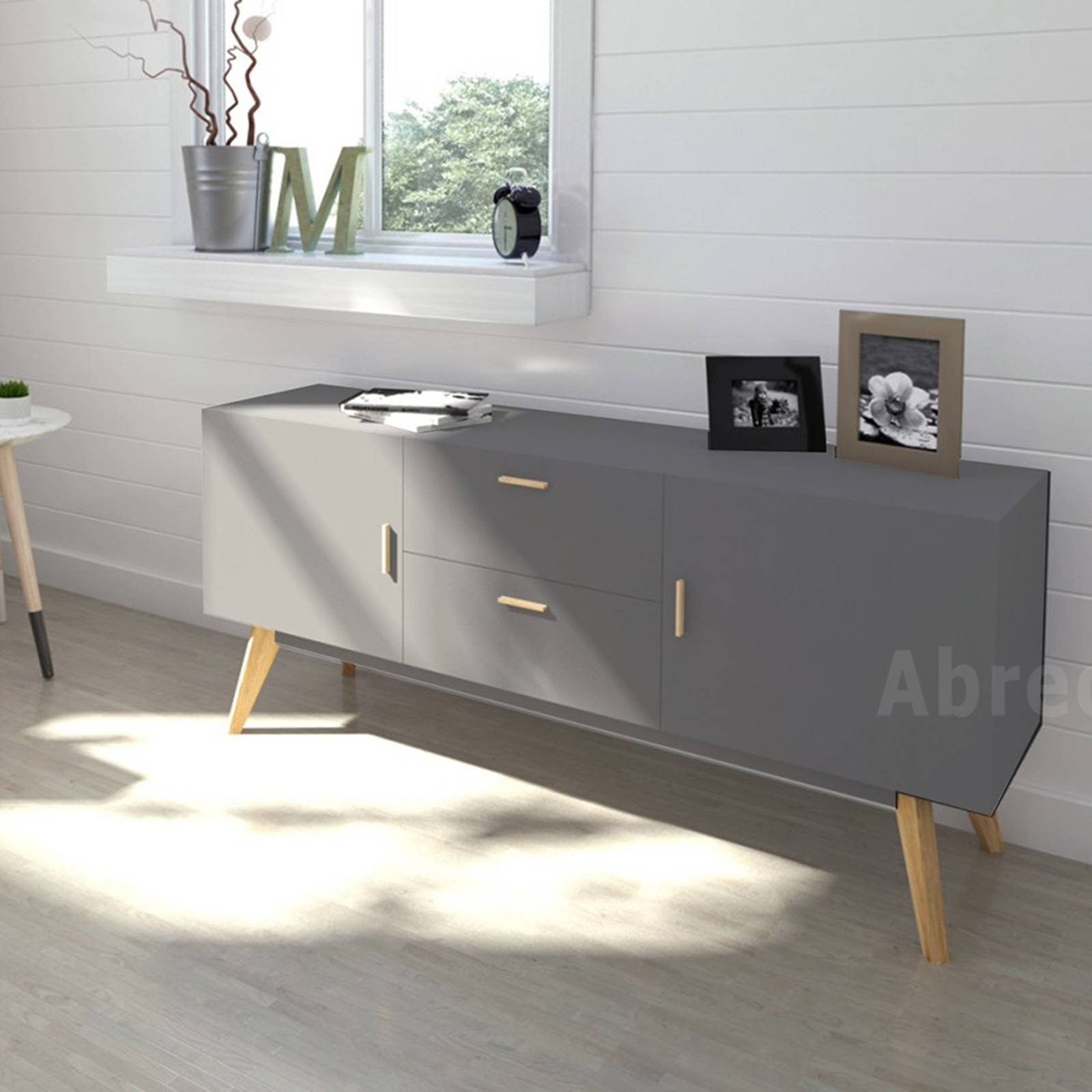 Scandinavian Retro Style White Sideboard Abreo Home Furniture Within 2017 Scandinavian Sideboards (#12 of 15)