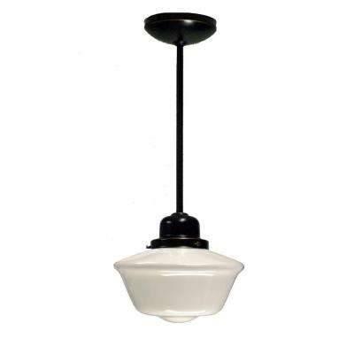 Schoolhouse – Pendant Lights – Lighting – The Home Depot Regarding Most Recent Schoolhouse Pendant Lights (#12 of 15)