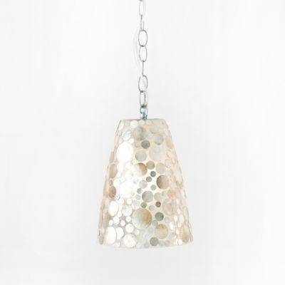 Shell Fiberglass Pendant Light Worlds Away Lighting Hanging With Regard To Best And Newest Shell Pendant Lights (#10 of 15)