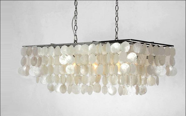Shell Pendant Light Lights Mother Of Pearl Lamp Beach 18 Pertaining To Latest Shell Pendant Lights (#13 of 15)