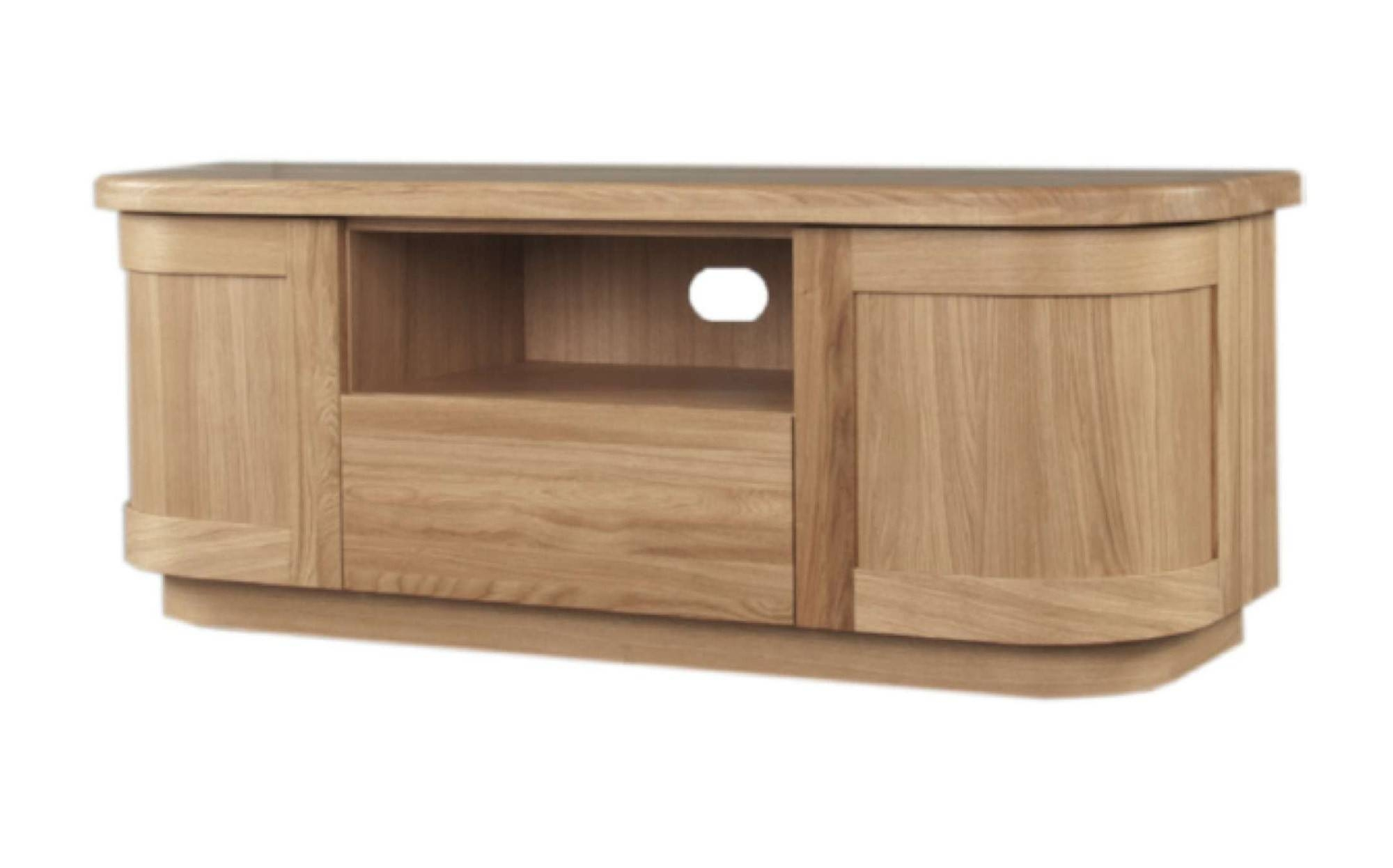 Sicily Solid Oak Tv Unit | Ice Interiors Inside Best And Newest Sideboards And Tv Units (#9 of 15)
