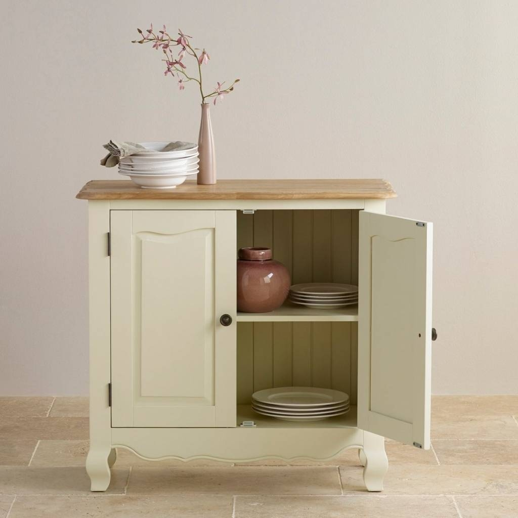Sideboard Bella Small Sideboard In Cream Painted Oak | Oak Throughout Most Current Oak Furniture Land Sideboards (View 15 of 15)