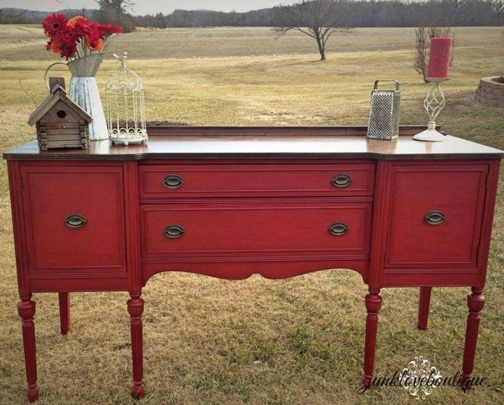 Sideboard Best 25 Red Buffet Ideas On Pinterest | Red Painted Regarding Newest Red Sideboards Buffets (#8 of 15)