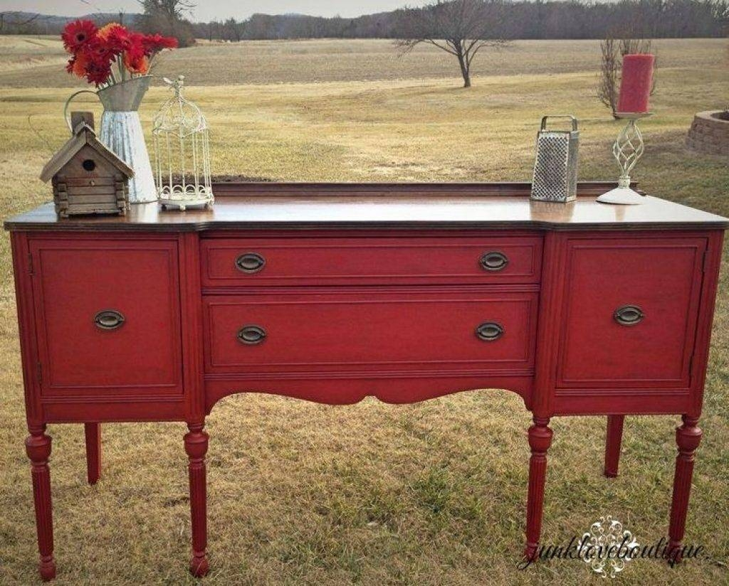 Sideboard Best 25 Red Buffet Ideas On Pinterest | Red Painted With Most Current Red Buffet Sideboards (#7 of 15)