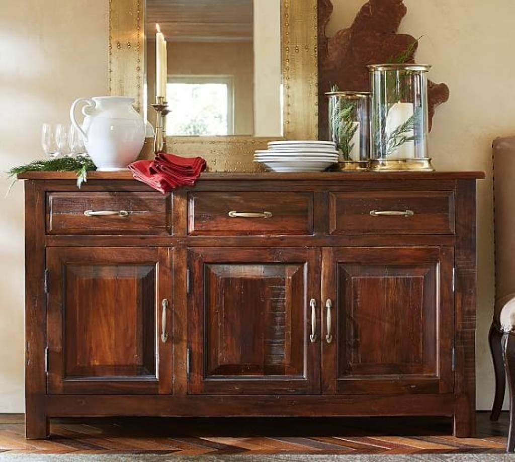 Sideboard Bowry Reclaimed Wood Buffet | Pottery Barn Throughout Pertaining To Most Recent Pottery Barn Sideboards (#7 of 15)