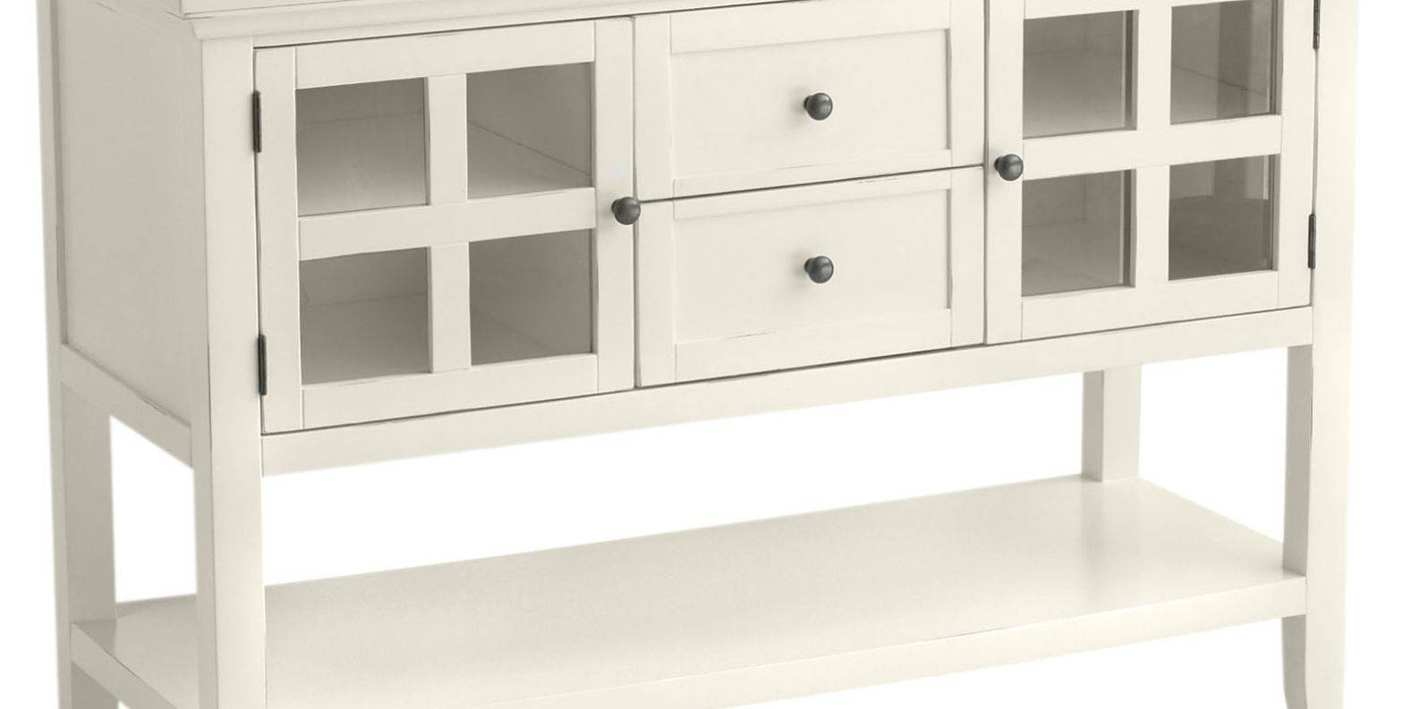 Sideboard : Buffet With Wine Rack Dining Buffet Table Buffet Within 2018 Slim White Sideboards (#11 of 15)