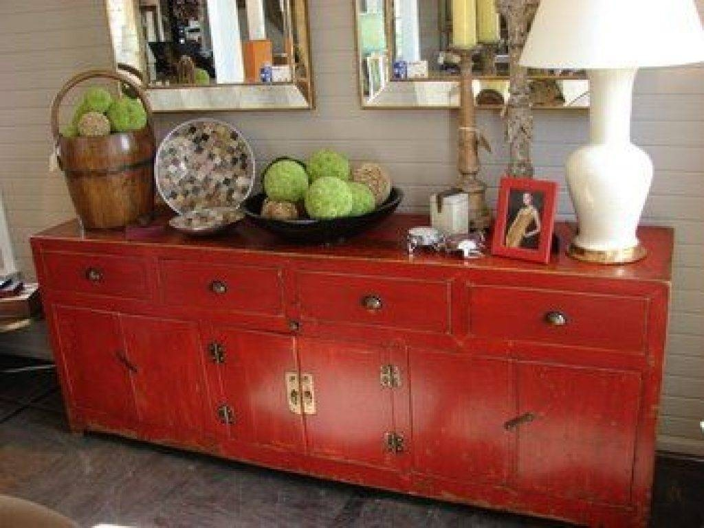 """Sideboard Chinese Sideboard Made """"a Little Bit Country"""" As Donnie For Most Recently Released Red Sideboards Buffets (#10 of 15)"""
