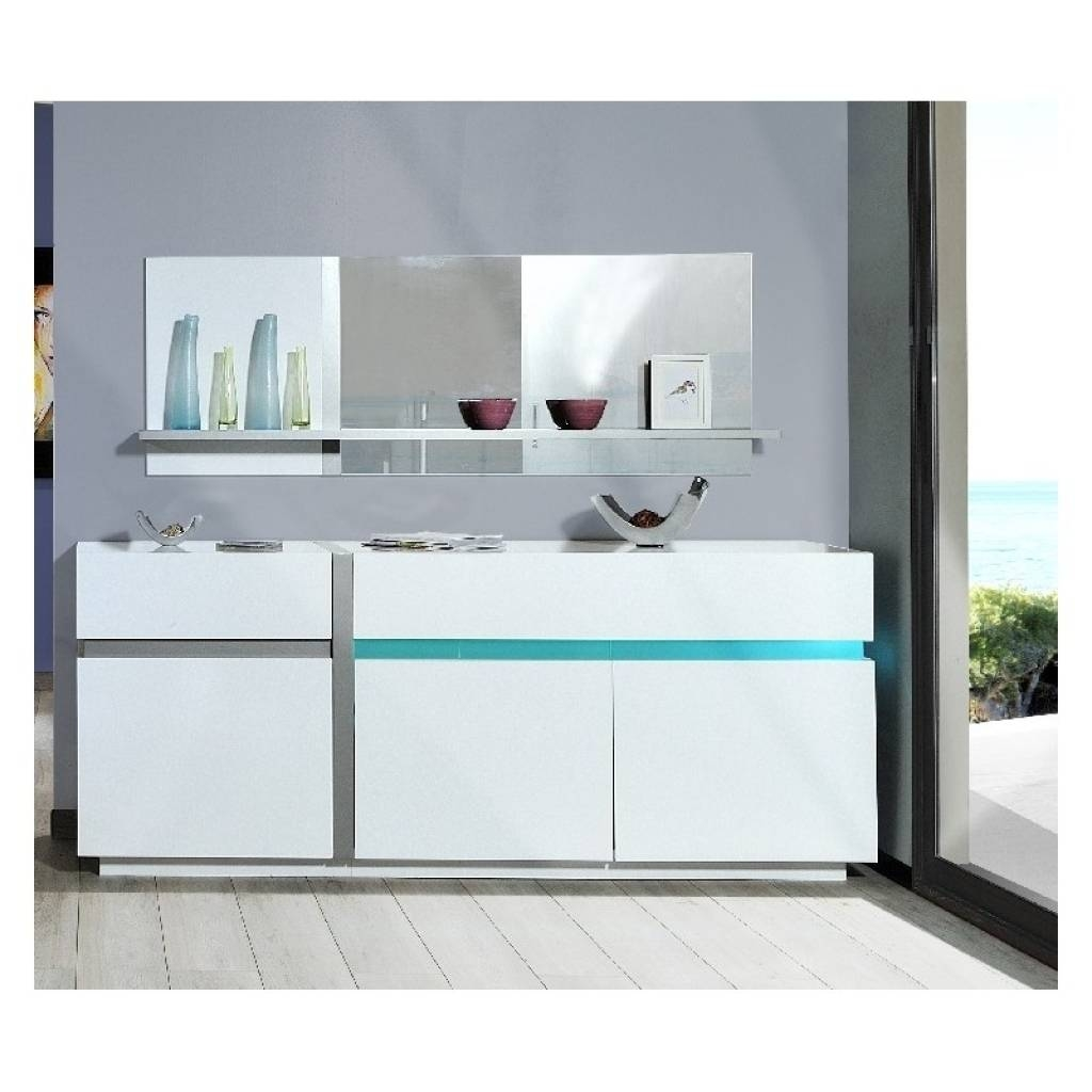 Sideboard Cross White Sideboard With Led Lights Sideboards Sena Pertaining To 2018 Sideboards With Lights (View 5 of 15)