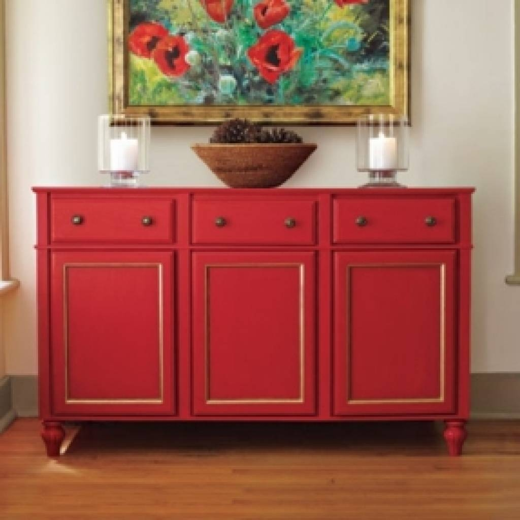 Sideboard Dining Room Buffet Sideboard Foter Regarding Red Pertaining To Newest Red Buffet Sideboards (#8 of 15)