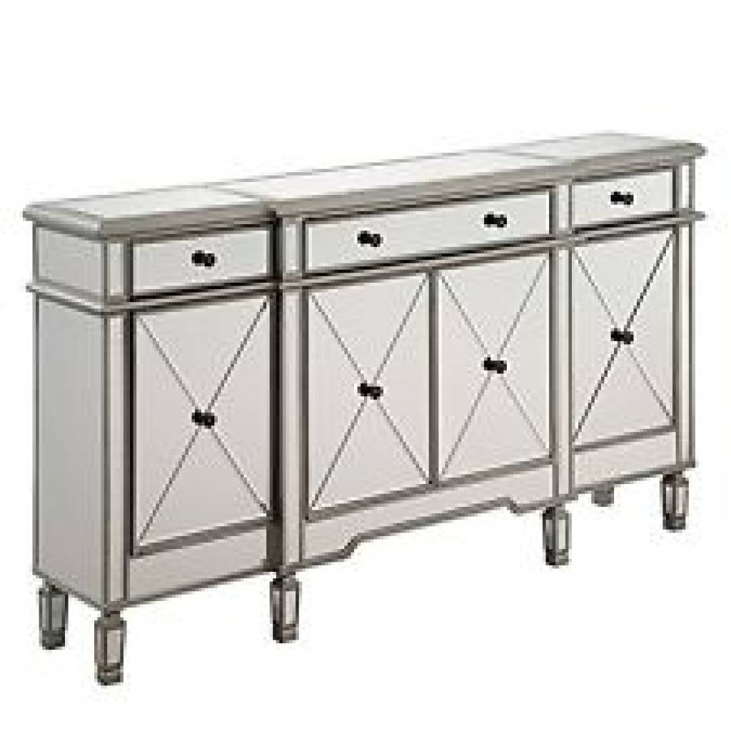 Sideboard Elegant Lighting Danville 4 Door Mirrored Sideboard In Regarding Most Popular Danville Sideboards (#3 of 15)