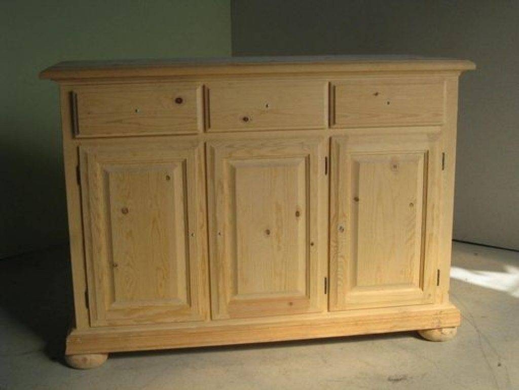 Sideboard Hand Crafted 3 Door Pine Sideboard On Within Most Current Pine Sideboards (#13 of 15)