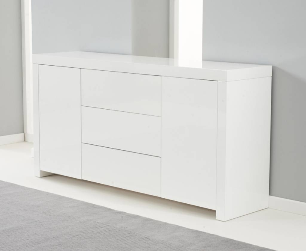 Sideboard Hereford 160cm White High Gloss Sideboard | Edgehill Within Most Recently Released Uk Gloss Sideboards (View 6 of 15)