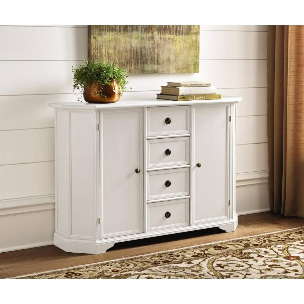 Sideboard Home Decorators Collection Caley Antique White Buffet Pertaining To Current Antique White Sideboards (#10 of 15)