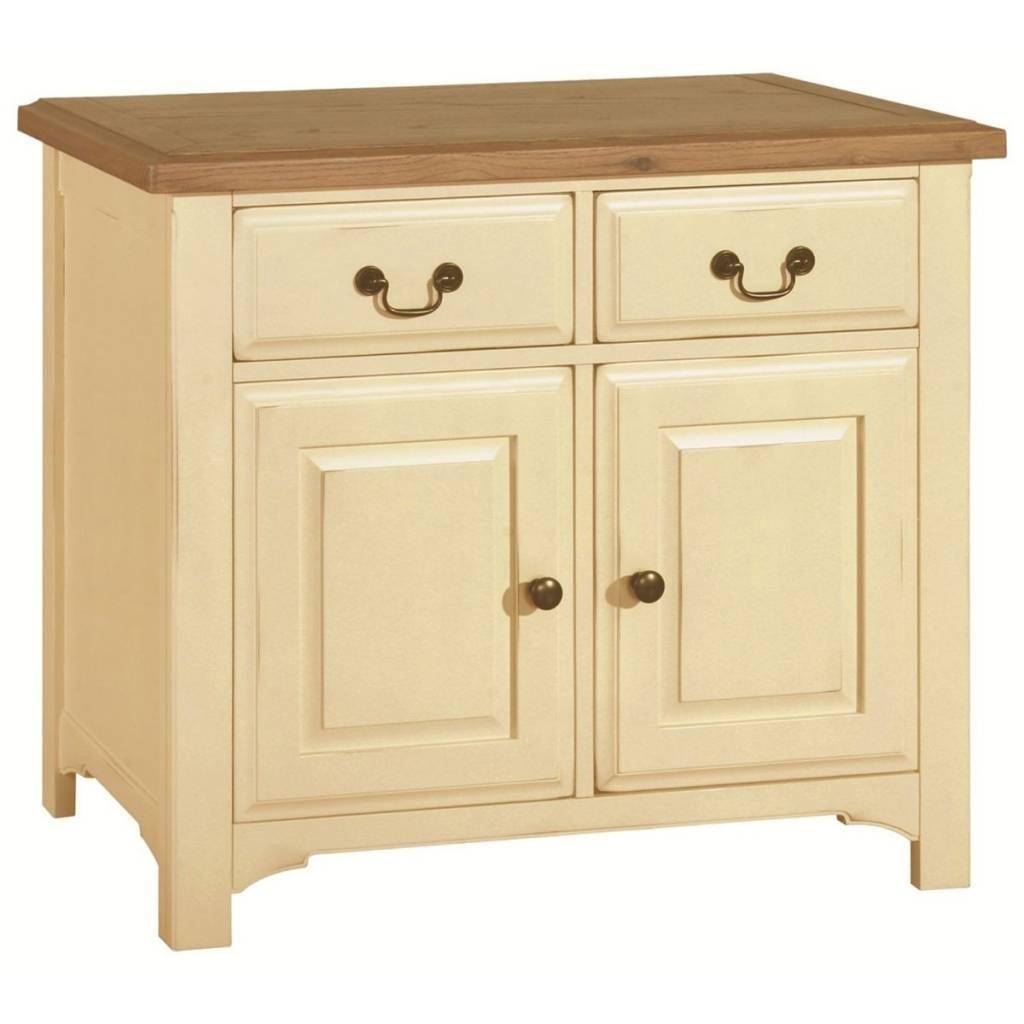 Sideboard Hutch® Havannah Cream Painted Oak Small Sideboard Throughout Recent Cream Oak Sideboards (View 11 of 15)