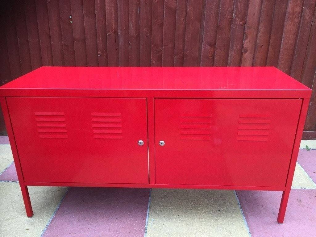 Sideboard Ikea Ps Tv Cabinet Stand Red Good Condition Sideboard Throughout Most Current Ikea Red Sideboards (#13 of 15)