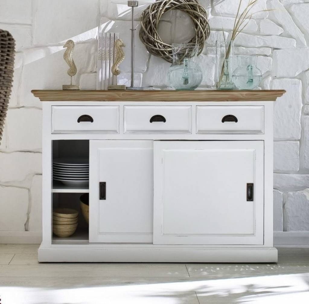 Sideboard Kitchen : Cool White Kitchen Hutch Cabinet Sideboards Pertaining To 2018 Cool Sideboards (#14 of 15)