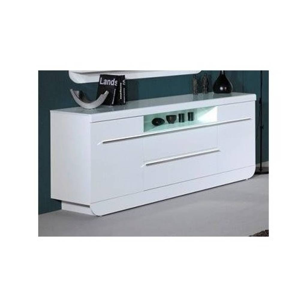 Sideboard Modo White Gloss Sideboard Sideboards Sena Home In Latest Gloss Sideboard Furniture (#13 of 15)