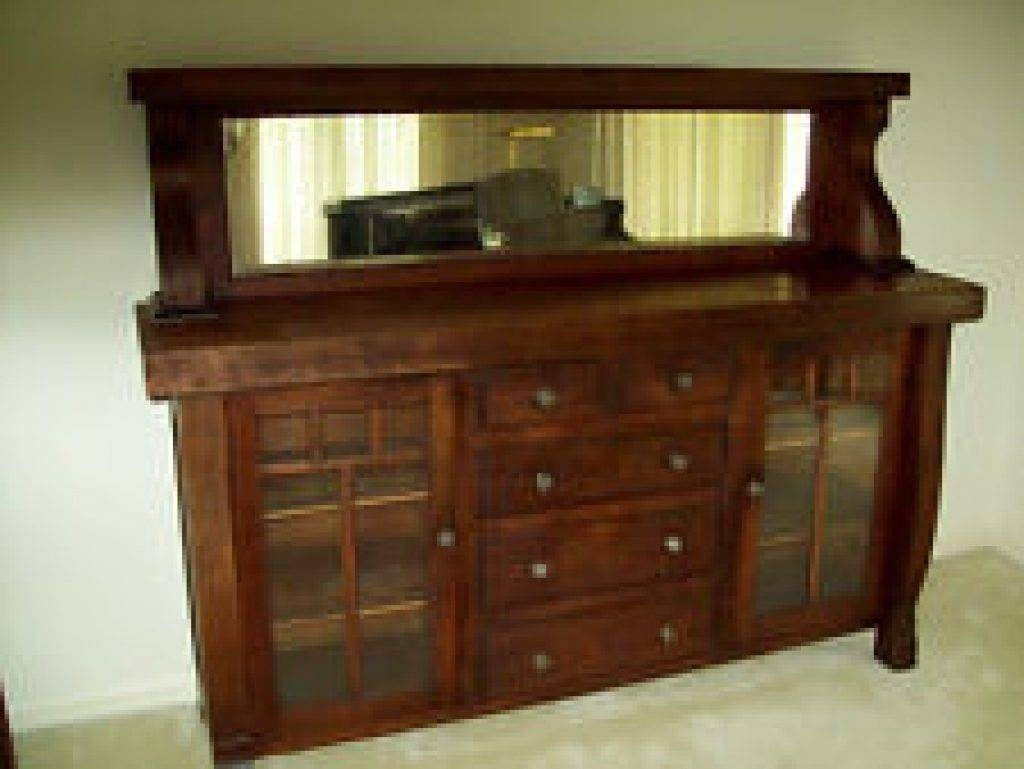 Sideboard Oak America Antique Sideboards & Buffets (1900 1950 Within Most Recently Released Antique Sideboards With Mirror (#10 of 15)